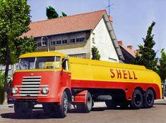 Cool Trucks, Big Trucks, Pickup Trucks, Antique Trucks, Vintage Trucks, Shell Gas Station, Royal Dutch Shell, Fuel Truck, Freight Truck