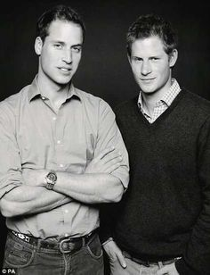 Unpublished Photo Of William and Harry by Mario Testino