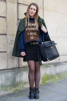 2b9872fe1bed Logos are BACK. 17 Ways to Pull off this Street Style Trend - ACNE studios