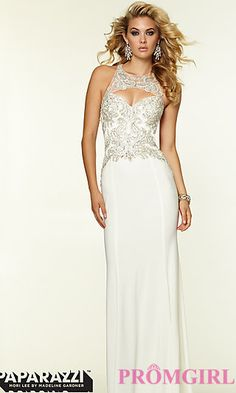 Mori Lee High Neck Prom Dress at PromGirl.com