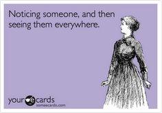 Noticing someone..