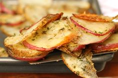 Baked Herbs and Parmesan Potato Slices