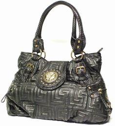 Gold Emblem Black Quilted Handbag, Satchel, Hobo or Evening Shoulder Bag  EZ COMMERCE , http://www.amazon.com/dp/B007NG9226/ref=cm_sw_r_pi_dp_u2jGpb01SDF3N