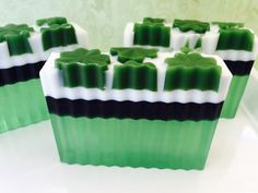 St Patrick's Day soap Clover and Aloe by SeasideSoapKitchen