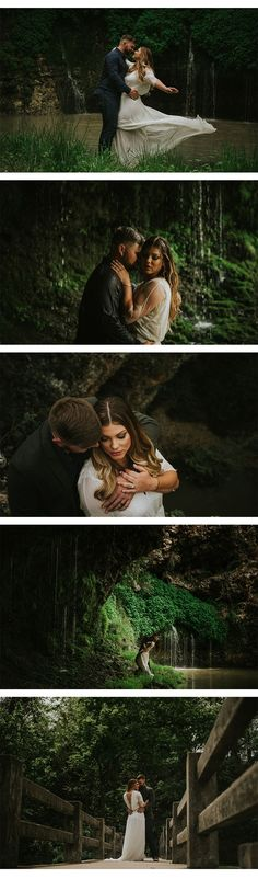 Waterfall Engagement Photos