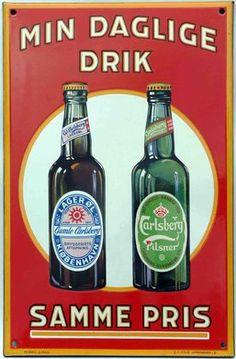 Hjem Beer Advertisement, Retro Advertising, Vintage Advertisements, Retro Ads, Beer Signs, Old Signs, Art Deco Posters, Vintage Posters, B Food