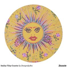 Smiley Tiley Plate-  All my original designs are hand drawn or painted on Stone or Ceramic tiles.  My artwork images can be found on multiple items for purchase.  Please visit my Store at http://www.zazzle.com/designsbyria.