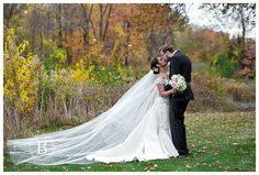 Dawn and Nick wedding at the Ritz Charles, Carmel, Indiiana www.baileyroberts... #indianapoliswedding #indianapolisweddingphotographer #ritzcharles #cathedralveil #bride #elegantwedding