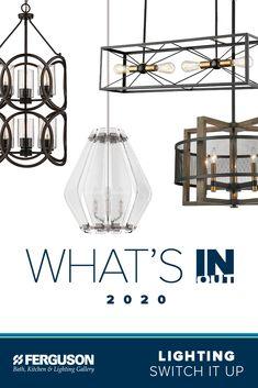 Cabin Lighting, Dining Room Lighting, Lighting Concepts, Lighting Ideas, Bathroom Renovations, Home Remodeling, Ferguson Showroom, Kitchen Under Cabinet Lighting, Electrical Fixtures