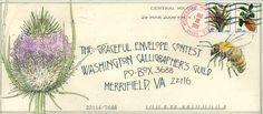 Elaine Hartman I 2006 Envelope Lettering, Calligraphy Envelope, Envelope Art, Envelope Design, Mail Art Envelopes, Letter Art, Letter Writing, Decorated Envelopes, Postcard Art