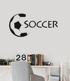 Vinyl Wall Decal Soccer Ball Sports Fan Kids Room Stickers Mural (ig3096)