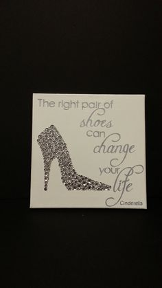 12x12 Canvas Cinderella Quote by CatMonkeyDesign on Etsy, $60.00