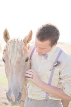 lavender groom look http://www.weddingchicks.com/2013/10/14/lavender-wedding-inspiration/