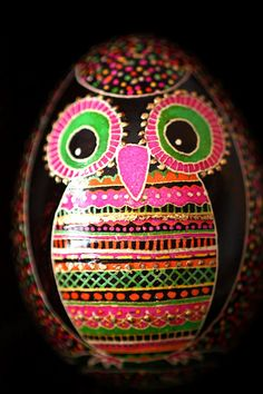 owl pysanky egg! Happy Easter! Some inspiration