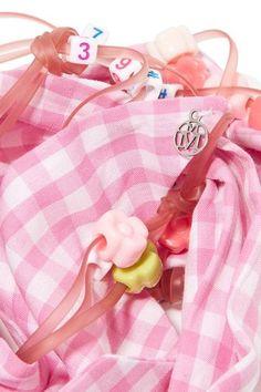 Maison Michel - Calie Embellished Gingham Cotton Headband - Pink - one size
