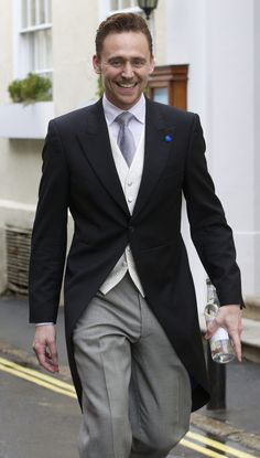 #TomHiddleston attends the wedding of #BenedictCumberbatch and #SophieHunter on the Isle of Wight, February 14, 2015.