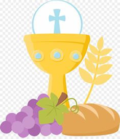 Great free clipart, png, silhouette, coloring pages and drawings that you can use everywhere. First Communion Banner, First Communion Gifts, First Holy Communion, Catholic Sacraments, Church Banners, Religious Education, Baby Design, Holidays And Events, Scrapbook Paper
