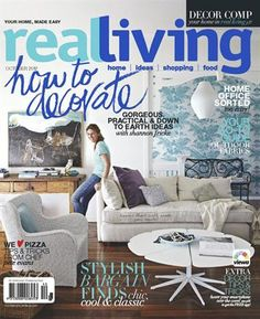 FAVE MAGAZINE / Real Living - I have been obsessed with interiors ever since I begged my dad to let me paint the back deck bright blue when I was This mag is inspiring, creative and achievable! Real Living Magazine, House And Home Magazine, Cover Style, Creative Decor, Coastal Style, Home Art, The Hamptons, Decor Styles, Home Office