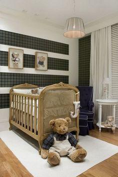 Papel de parede para quarto de bebê - xadrez