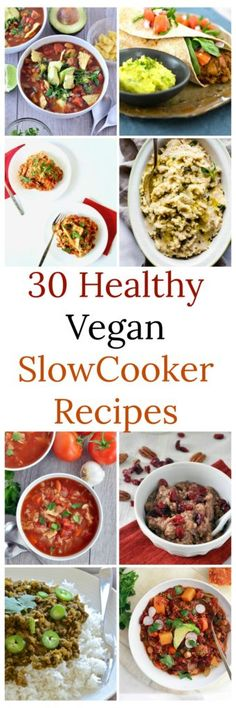 Too hot to cook? Here are 30 healthy vegan slow cooker recipes you can make in the crock pot. Easy, vegan and gluten free. Try them today!