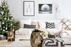 Modern Scandi-chic Christmas home gets cozy Norwegian style