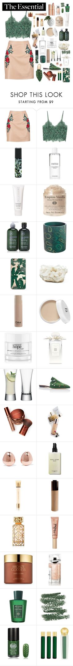 """""""Leafy Slides"""" by essentiallyessence on Polyvore featuring Boohoo, MANGO, Nest Fragrances, Chantecaille, Paul Mitchell, Fornasetti, Philmore, Chloé, philosophy and Jo Malone"""