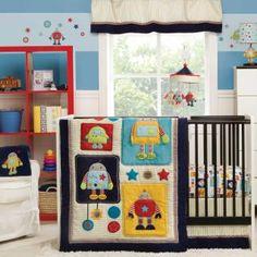 Robots Play Bedding by Kidsline - Robot Baby Crib Bedding - 6205bed