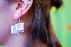 Nerdy earrings at IMWe 2014