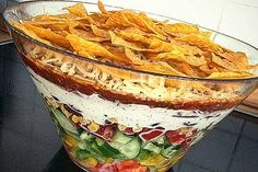Taco – Salat Taco salad, a refined recipe from the category Refined & inexpensive. Ratings: Average: Ø Salad Recipes, Snack Recipes, Dinner Recipes, Chef Recipes, Pizza Recipes, Salades Taco, Taco Salads, Good Food, Yummy Food