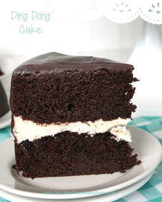 Homemade Ding Dong Cake | AllFreeCopycatRecipes.com