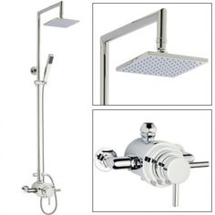 Hudson Reed Dual Exposed Thermostatic Shower Valve with Rigid Riser $614