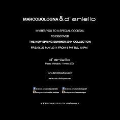 23 maggio ore 18/22 The Best Shops D'ANIELLO Aversa & MARCOBOLOGNA vi aspettano per una serata speciale...!