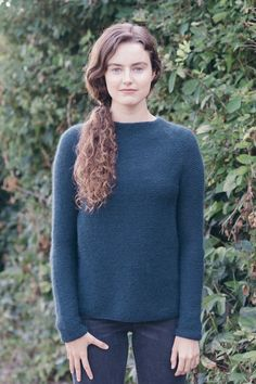 channel pullover knitting pattern - Quince and Co