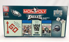 Monopoly Philadelphia Eagles Collector 039 S Edition Board 2003 Complete Philly