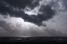 Grey November Skies over Poole Bay by Simon Verrall, via Flickr