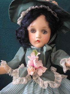 "Madame Alexander Doll   Vintage   ""Scarlett""   Composition   14"" #MadameAlexander"