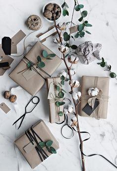 Eucalyptus gift wrap.