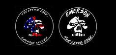 EMERSON KNIVES LOGOS 7 Knife Logo, Emerson Knives, Logos, Fictional Characters, Logo, Fantasy Characters