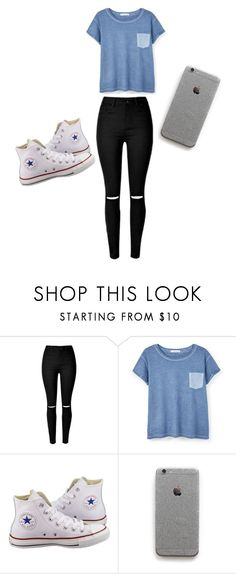 """Untitled #24"" by cynthiaxgarcia on Polyvore featuring MANGO and Converse"