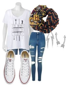 How to wear Harry Potter style by hairypawter on Polyvore featuring polyvore, fashion, style, Topshop, Converse, Journee Collection and clothing