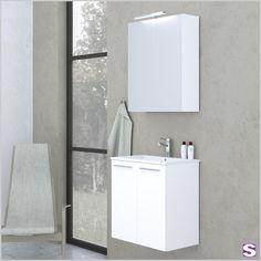 Badmöbel Dokka - SEBASTIAN e.K. - Durch die geringe Einbautiefe eignet sich Dokka besonders für schmale oder kleine Badezimmer.