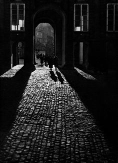 Josef Sudek: View of the First Courtyard through the Matthias Gate, Prague, not dated