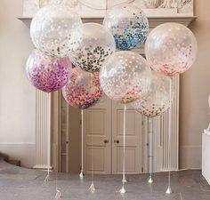 огромные воздушные шары с наполнителем-конфетти