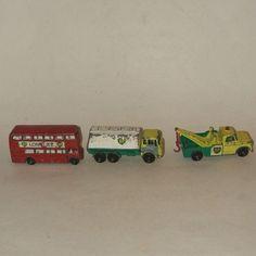 3 Vintage Matchbox Diecast BP 13 Wreck truck 25 Petrol tanker; 5 Routemaster Bus #MatchboxLesneyEngland #DodgeRoutemaster