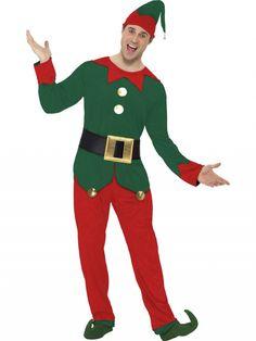 Disfraz de Elfo adulto. Elf costume. #disfraces #navidad #costume http://www.leondisfraces.es/producto-1014-disfraz-de-elfo-adulto