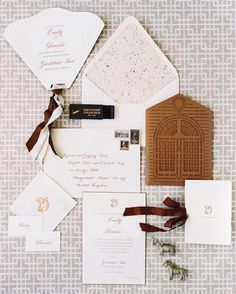 custom invitation suite from ceciNY