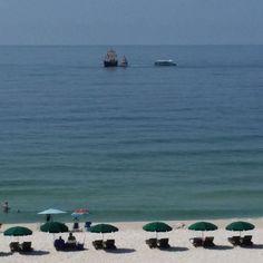 Arrr! Pirates out in front of the beach condo!,  #orangebeach #regencyisle