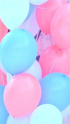 art, background, balloons, beautiful, beauty, colorful, cutie, design, fashion, fashionable, girly, heart, kawaii, pastel, pink, pink balloons, pretty, soft, softy, still life, wallpapers, we heart it, backgrounds, fairy kei, pink background, blue balloo #colors #tagforlikes #random