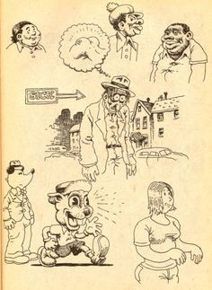 "Robert Crumb - ""Sick"" thesweetestpsychopath: Robert Crumb, Comic Manga, Comic Art, Cartoon Faces, Cartoon Art, Comic Book Artists, Comic Books, Desenho New School, Tattoo Flash Sheet"