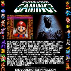 Did You Know Gaming? Luigi's Mansion.  http://www.youtube.com/watch?v=8vzJDV9wHvE=1m23s